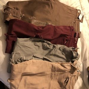Lot of 4 American Eagle AE jegging Jeans 14 new